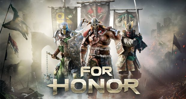 An epic banner of the game, showing a Samsurai, Viking and Knight. Photo: Ubisoft