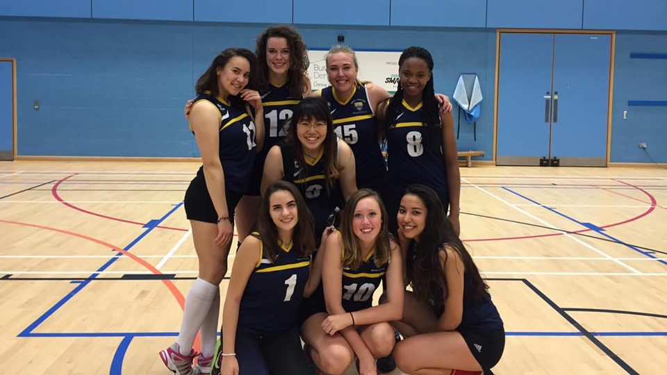 Some of the team members after a win against Surrey