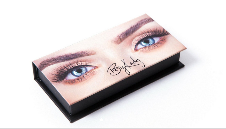 The packaging for ByKady eyelashes features the star's own eyes. Photo: By Kady