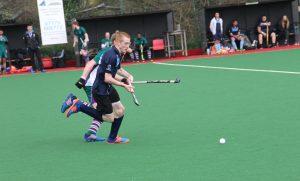 Goalscorer Ben Spencer battling for the ball. Photo: Michael Lloyd