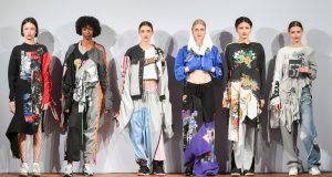 """My collection was solely made from vintage garments that were transformed to create new garments,"" Kingston graduate Tara Khemiri said about her collection (pictured) that secured her a job at Stella McCartney. (Photo: Rosemary Pitts)"