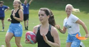 Tag Rugby is a mixed sport with 53 per cent of competitors being female. Photo: Tagged Rugby, Facebook.