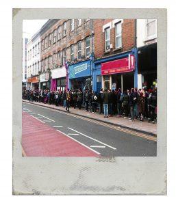 Fans queue to meet Bring Me The Horizon, 2013