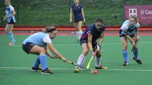 The KU women's hockey team in action Photo: Yasemin Kose