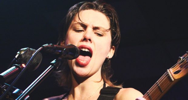Ellie Rowsell screams into Hippodrome crowd. PHOTO: Alice  Bradley