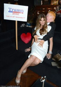 Journalist Jemima Khan dressed as Melania Photo: Daily Mail