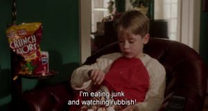 What is better than binge watching Netflix Christmas movies and pigging out