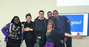 The chosen 6 NUS delegates at the AGM meeting          Photo: Muna Ali