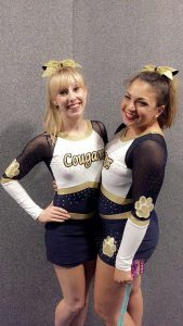 Kim Gardner with ex-cheerleading president Sophia Nasif-Whitestone Photo: Sophia Nasif-Whitestone