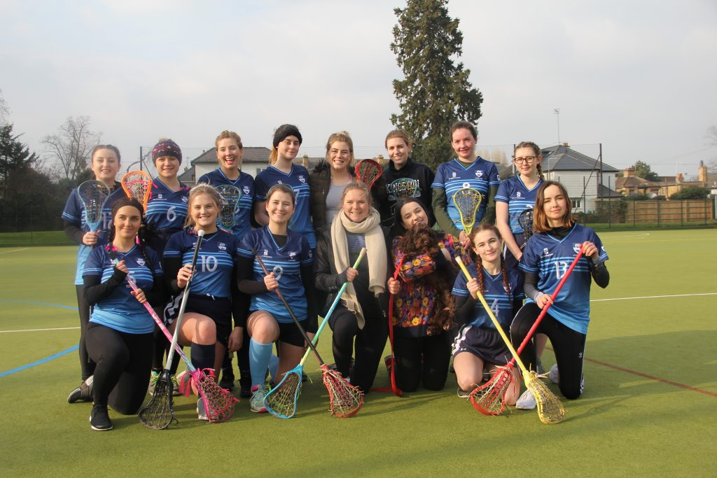 The lacrosse team played a good match against St Mary's (Photo: Melina Pambou Sundfor)