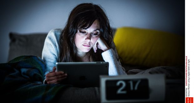 Lack of sleep related to social media is common among young people Photo: REX