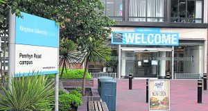 Applications for KU have dropped and experts warn of university closure. Photo: Kingston University