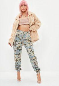 petite-premium-camo-printed-cargo-trousers