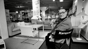 Kamprad in one of his stores in 1983 Photo: Rex