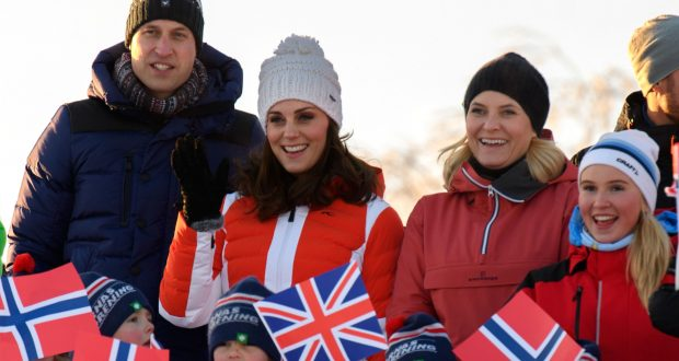 Prince William and Catherine Duchess of Cambridge visit to Norway 2018. Photo: Tim Rooke/REX/Shutterstock