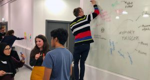 The winning team planning during the 24 hour event    Photo: @KingstonUni Twitter