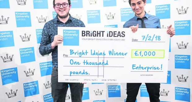 Eady (left) and Dransfield (right) at the final. Photo: Bright Ideas competition