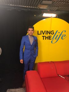Aukash has appeared on a number of talk shows including Living the Life photo: living the life