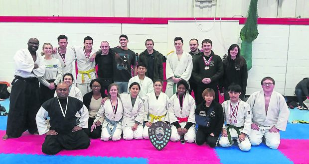 The victorious jiu jitsu team. Photo: Kingston jiu jitsu club