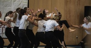 The advanced contemporary team performing at their last competition Photo: Sean Wright