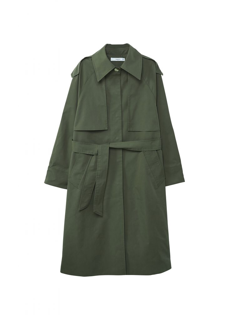 Military: a masculine touch, wear it together with a black dress for the perfect mix. Photo: Mango, £99.99