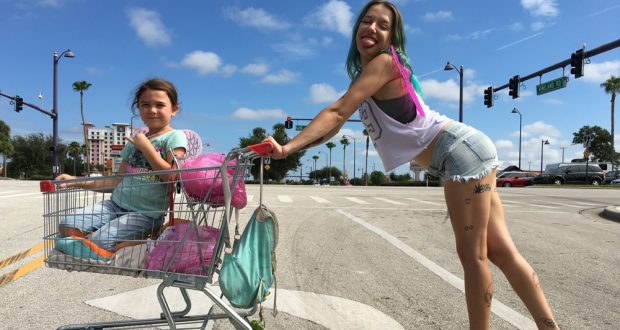 The Florida Project shows the other side of the American dream.  Photo: REX