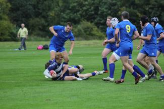 Captain Dan Phoenix is tackled