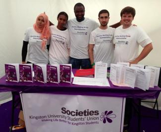 Members of the Society Working Group (SWG) at Freshers' Fayre