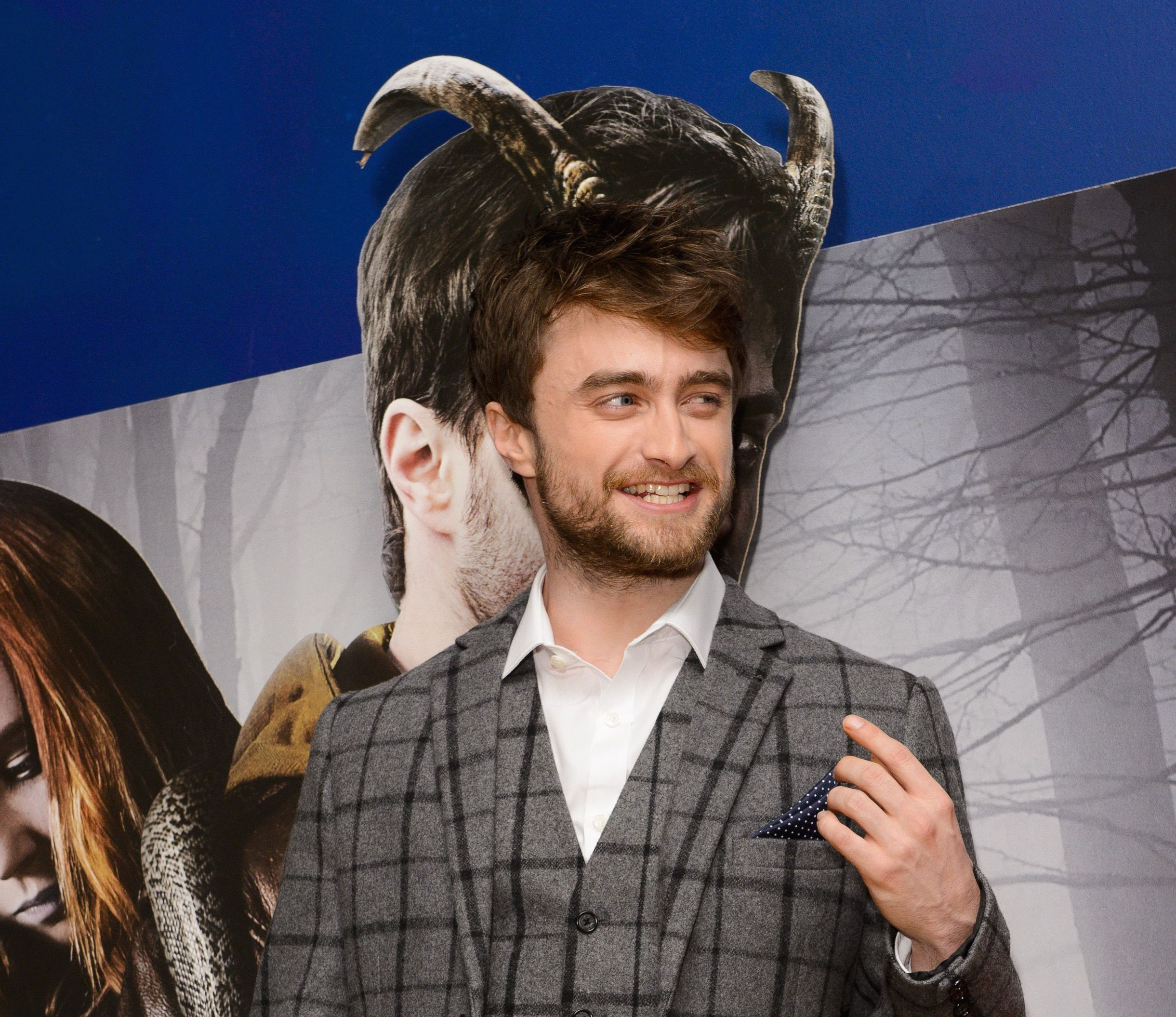 Daniel Radcliff at Horns Premiere, London October 20. Rex Features