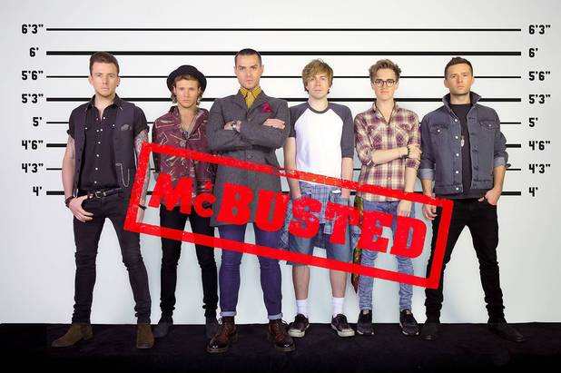 McBusted rock up to Kingston for Air Guitar signing