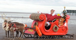 David Hasselhoff stars as Father Christmas in Nikon COOLPIX Alternate Christmas Photo, Southport, Britain - 30 Nov 2012