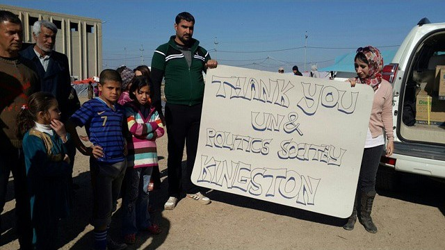 Refugees in Syria thank Kingston students for funds raised