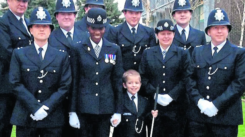 Terminally ill boy becomes Kingston's youngest police officer