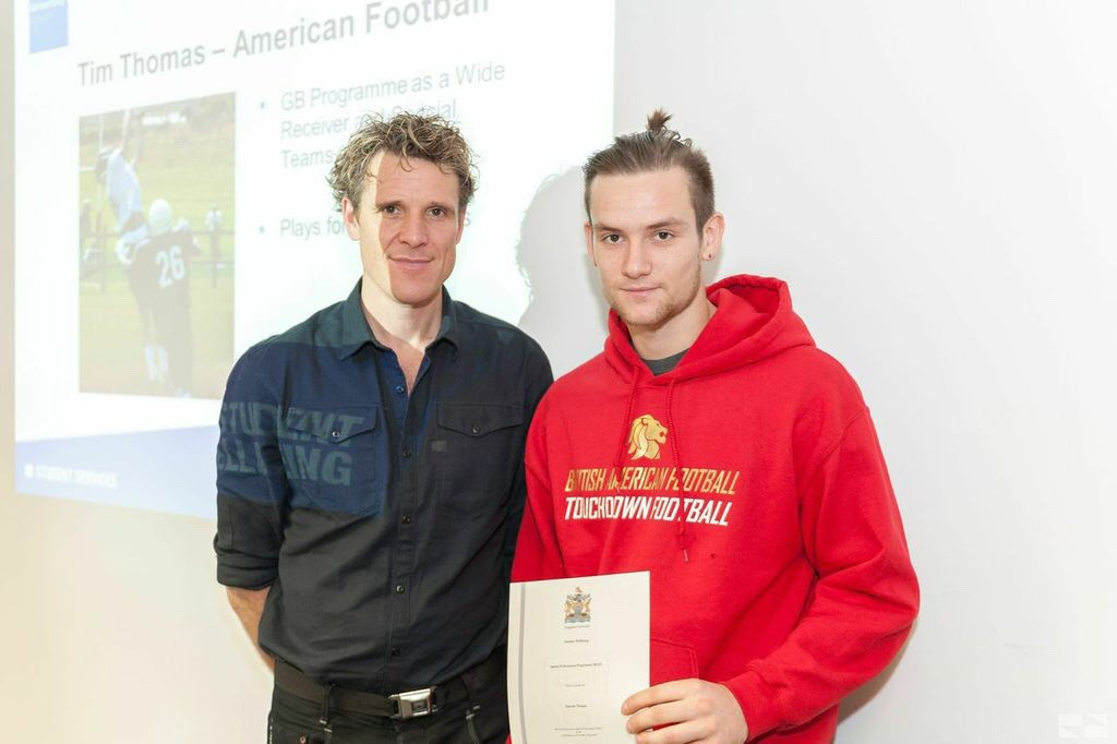 Kingston University student signed to top American football team