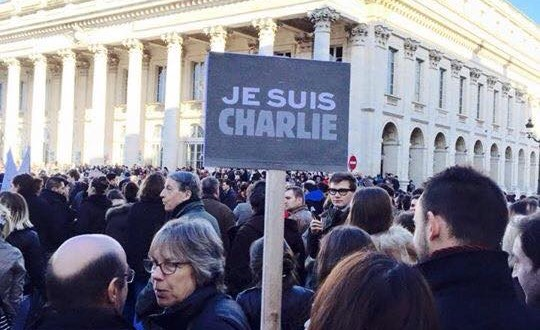Crowds gather to protest across France. Photograph by Joseph Ward