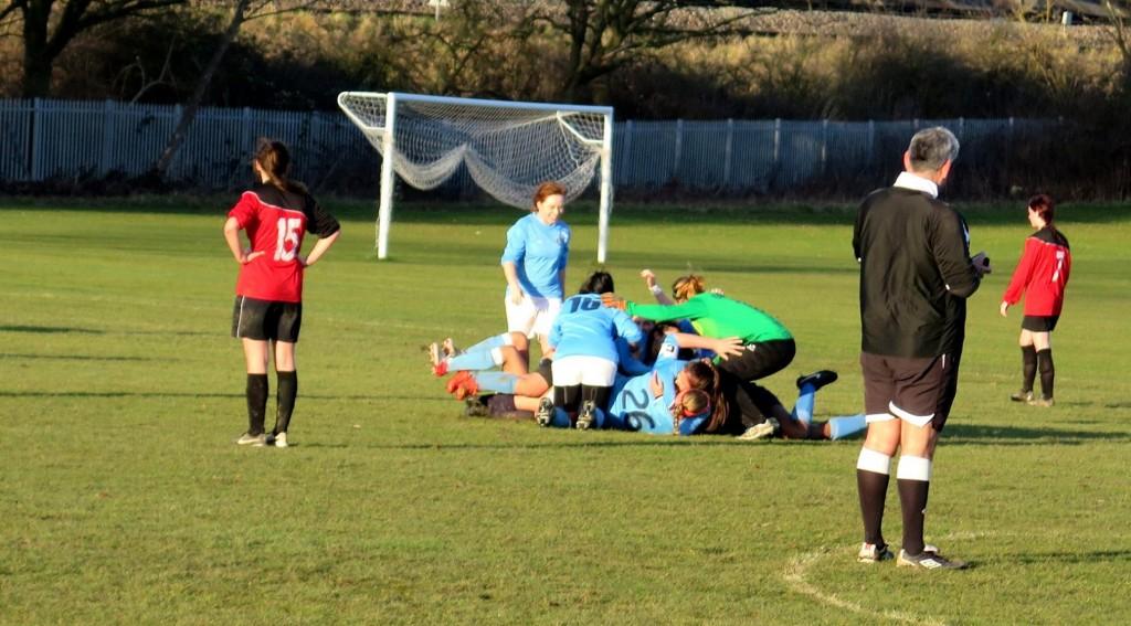KULFCs winning goal. Photograph by Malin Westin