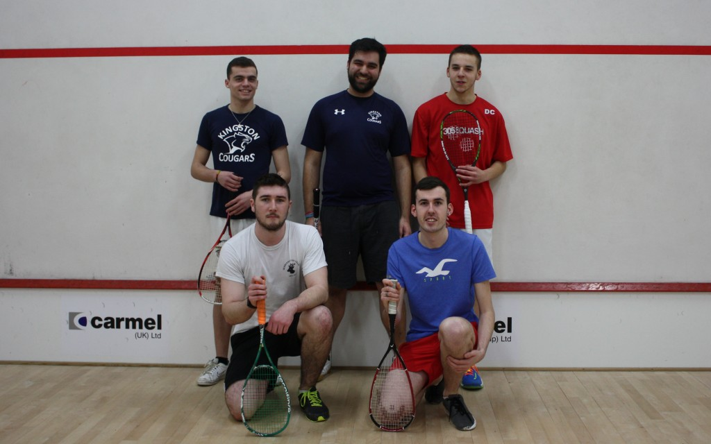 KU squash team squashes Royal Holloway