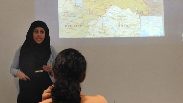 Kingston students discuss sexual violence in Kashmir