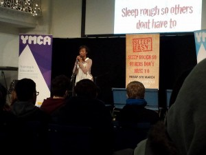 Live performer at the inaugural Sleep Easy event
