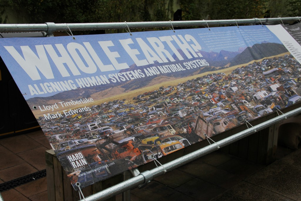 61m banner by Mard Edwards showcasing global issues