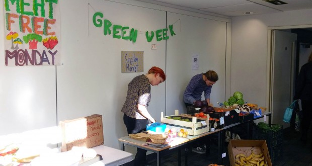 Students from the Environmental Working Group at the Green Week earlier this year. Picture: Kingston University