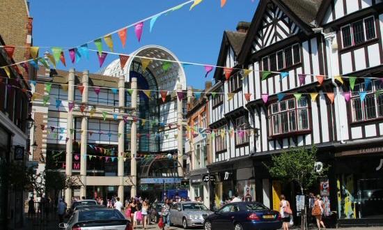 Kingston high-street.    Photo: Beautiful England