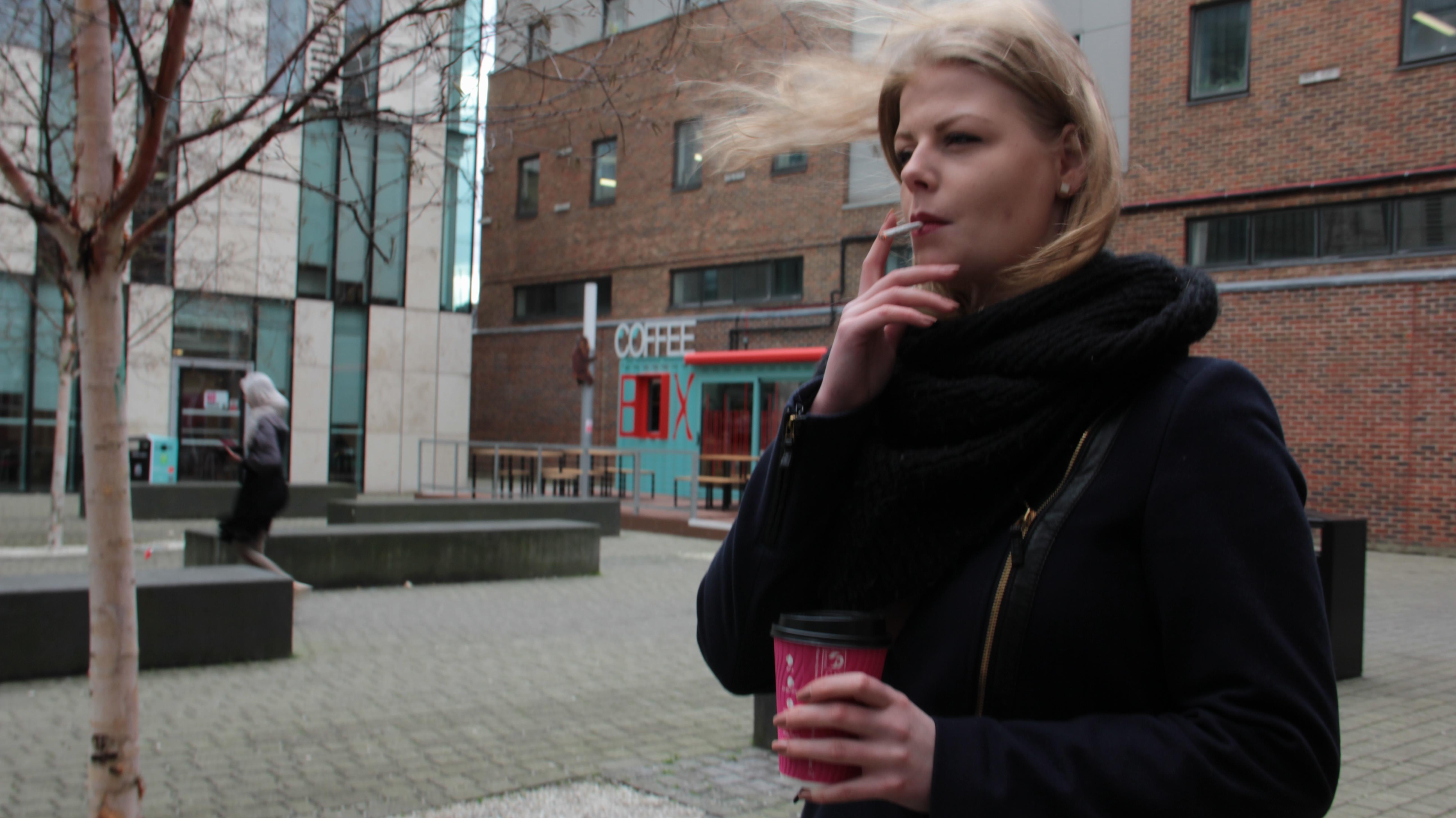 Kingston student smokers ignore JG courtyard cigarette ban