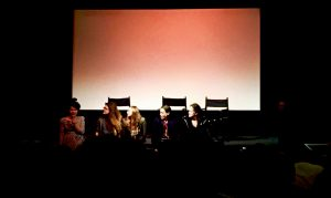 Photo from the Q and A after the screening