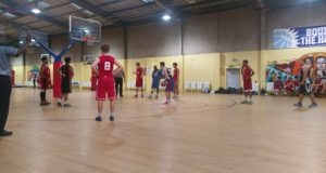 Point guard, Egor Gorshkov, at the free throw line where 19 of his points came from  Photo: Laurence Bohan