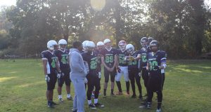 Defensive backs coach, Junior Hayden, and the high flying cougars.