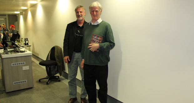Director of Kingston Writing School Dr David Rogers and non-fiction author Richard Cohen.