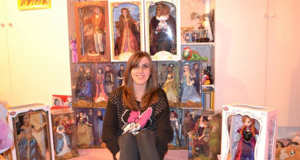 Becca Tuffin with her £1,000 collection