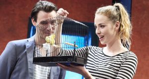 Credit: Photo by Geraint Lewis/REX/Shutterstock (6026211a) Freya Mavor as Annie, Harry Lloyd as Jack 'Good Canary'