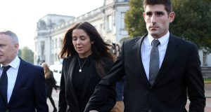 Photo: Huw Evans / Rex features Ched Evans and his fiancee Natasha Massey leaving Cardiff Crown Court at the end of his retrial for rape during which he was found not guilty